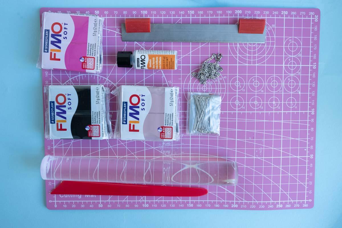 KuneCoco • DIY • Fimo Schweinchenkette • Material