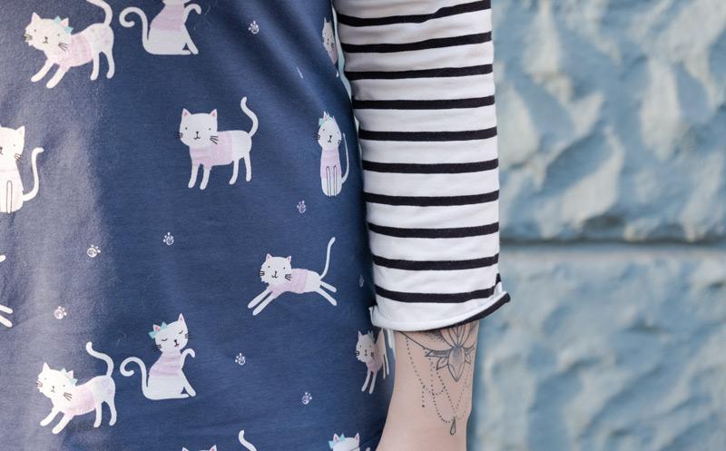 KuneCoco • #naehdirwas: Reststoffe • Gestreiftes Katzenshirt
